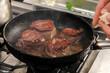 Zubereitung von Steaks