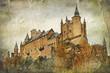 Segovia Alcazar castle - vintage picture