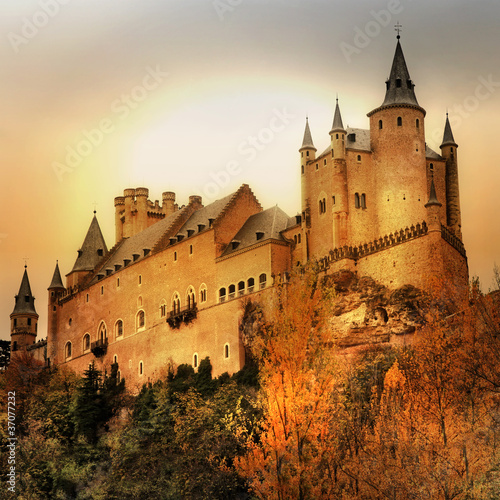 Alcazar castle on sunset