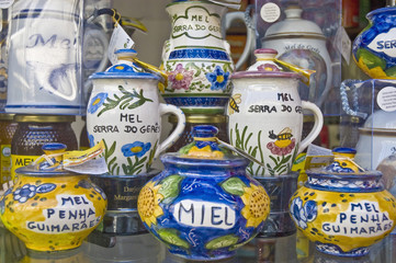 Honey jars at Porto, Portugal