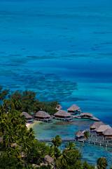 Resort Bungalows, Bora Bora Island, Tahiti