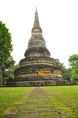 Pagoda in wat U-Mong, Chiangmai