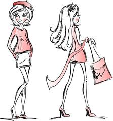 Мода вектор девочек