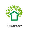 Logo green house  # Vector