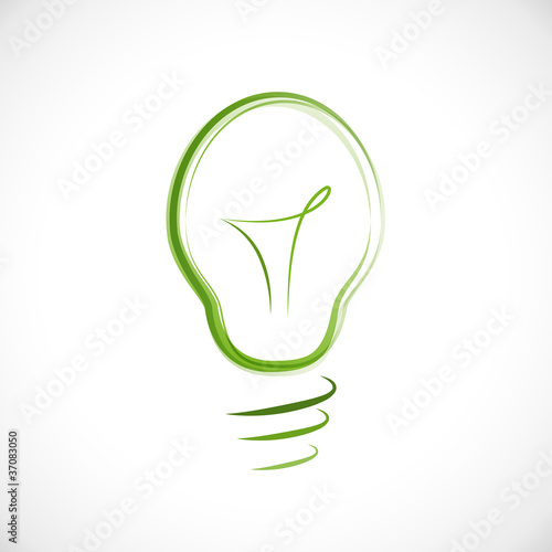Logo energy efficient light bulb # Vector