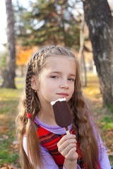 Girl with an ice-cream