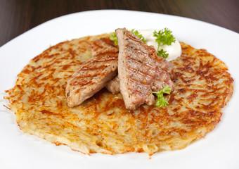 potato pancake with meat