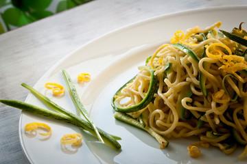 Tagliolini with courgettes