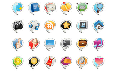 Social Media Bubble Icon