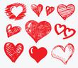 collection heart vector