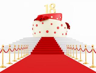 Birthday cake on the top