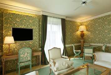 interno di salotto di lusso