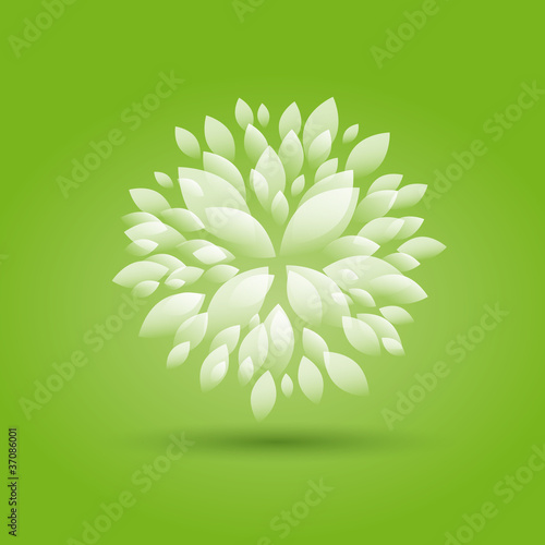 Green Floral background # Vector