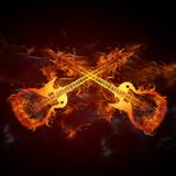 Fototapety Gitarren Feuer