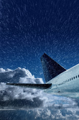 aircraft in snow