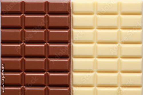 2 Sorten Schokolade