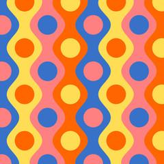 Retro Muster mit Kreisen