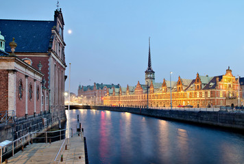Copenhagen Old Stock Exchange By Night 1