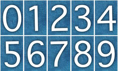 0123456789 - chiffres effet jean