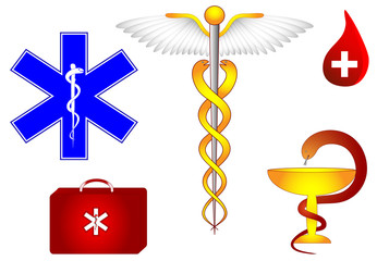 Caduceus. Medical and pharmacological sign