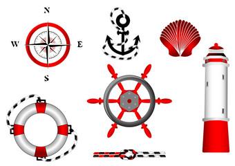 nautical icons set for design