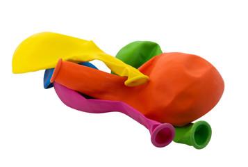 Balloons deflated