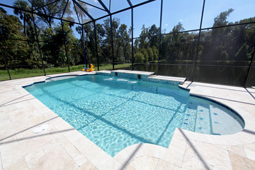 Swimming Pool with Lake View