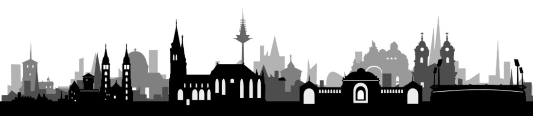 Skyline Nürnberg Häuser-Schichten