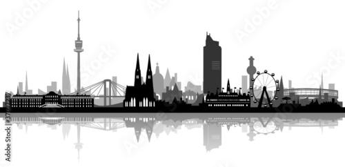 Skyline Wien Häuser-Schichten