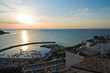 Panoramic view of Peschici. Puglia. Italy.