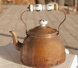antique copper teapot