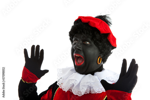 Zwarte piet ( black pete) typical Dutch characte