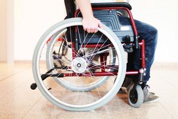 Rollstuhl im Altersheim