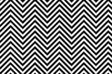 Trendy chevron patterned background black and white poster