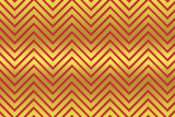 Golden and red chevron patterned background poster