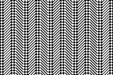 Trendy chevron patterned background, black and white poster