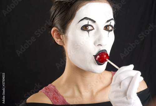 Mime with Lolipop