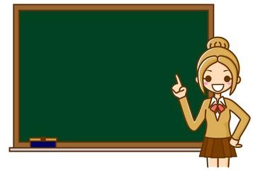 学生と黒板