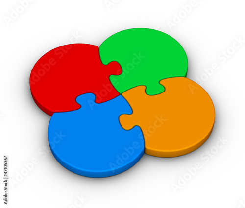 four multicolor puzzles