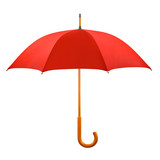 Opened red umbrella