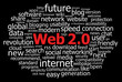 """WEB 2.0"" Tag Cloud (internet www version upgrade concept)"