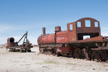 Old train in Uyuni (Bolivia)