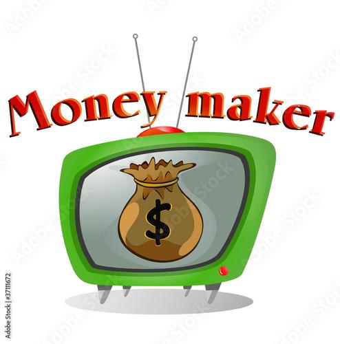 Fotobehang Restaurant Money Maker