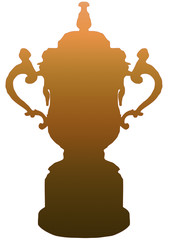 Isolated RWC Trophy in Gold