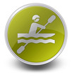 "Yellow Glossy Icon ""Kayaking"""
