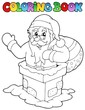 Coloring book Santa Claus theme 7