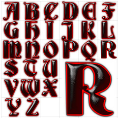 abc alphabet font background deutsche gothic design