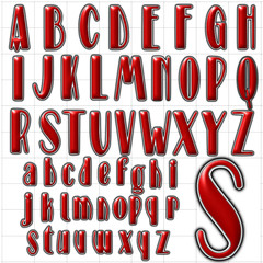 abc alphabet font background stage design