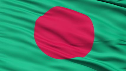 Waving Flag Of Bangladesh