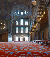 Inside the Beautiful Blue Mosque in Istanbul